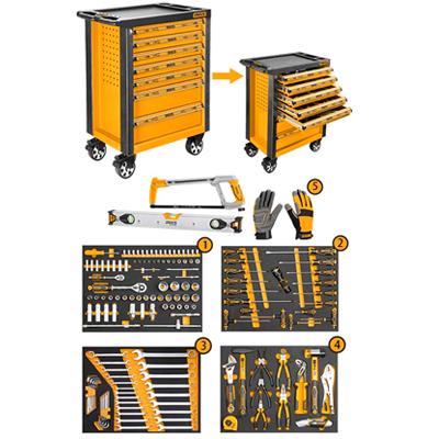 Caja de herramientas 162 piezas INGCO