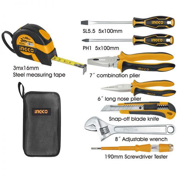 Set herramientas 8 piezas INGCO